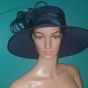 Giovannio Accessories - Derby   Church Hat navy blue structured loops 06cf11da4d80